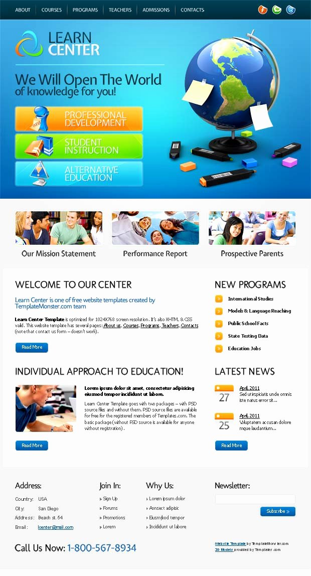 Free Education Website Template Beautiful Pany Website Design Free Education Website Template