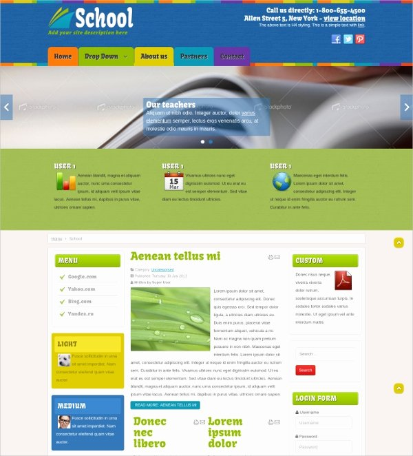 Free Education Website Template Best Of 27 Free Education Website themes & Templates