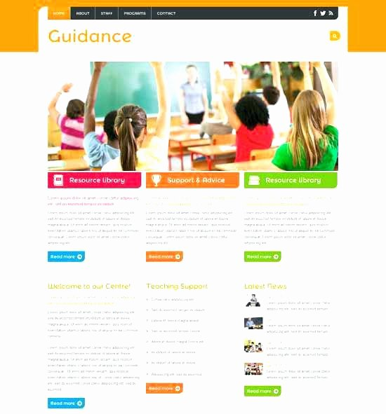 Free Education Website Template Elegant Free Premium Education Website Templates are Well Designed