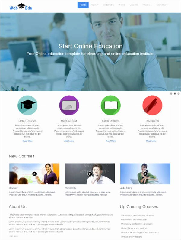 Free Education Website Template Fresh 27 Free Education Website themes & Templates