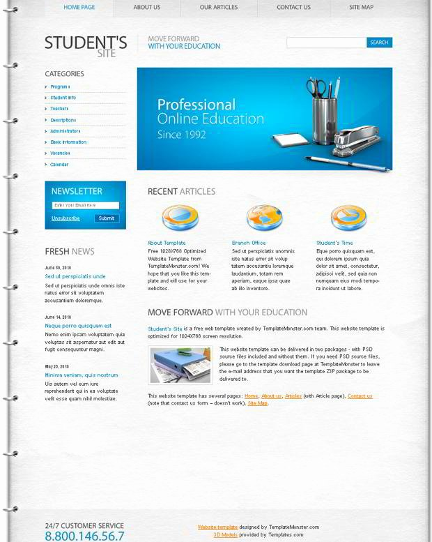Free Education Website Template Fresh Free Education Website Template – the Best Choice for