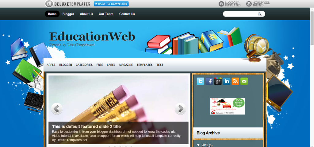Free Education Website Template Inspirational 20 Education Blogger Templates Free Download