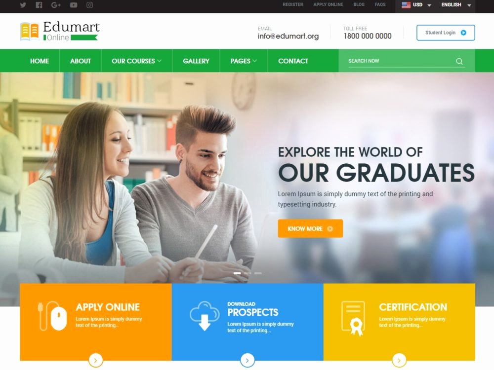 Free Education Website Template Inspirational 25 Amazing Education Website Templates for College