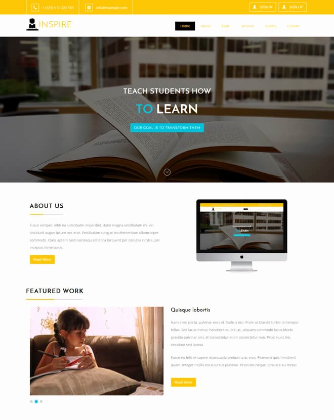 Free Education Website Template Inspirational 30 School College University Academic Free Line