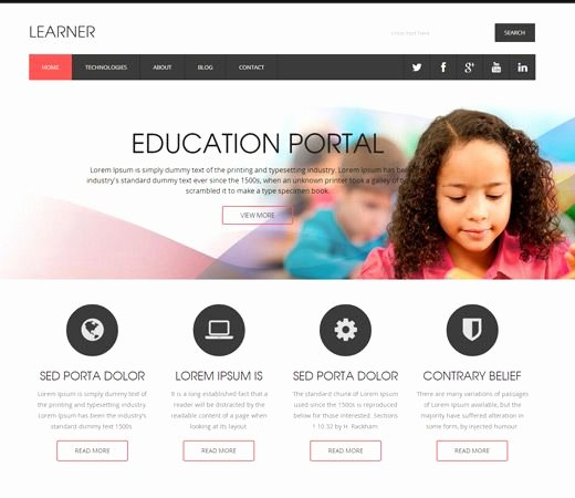 Free Education Website Template Lovely 15 Best Free Education HTML Templates Images On Pinterest