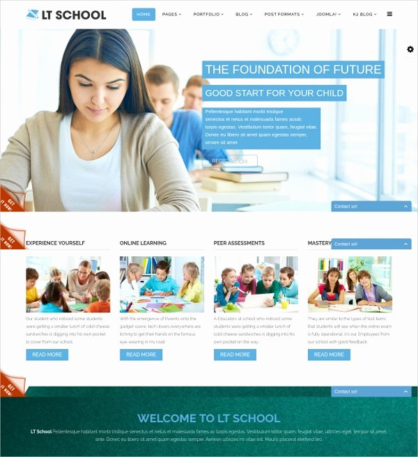 Free Education Website Template Lovely 27 Free Education Website themes & Templates
