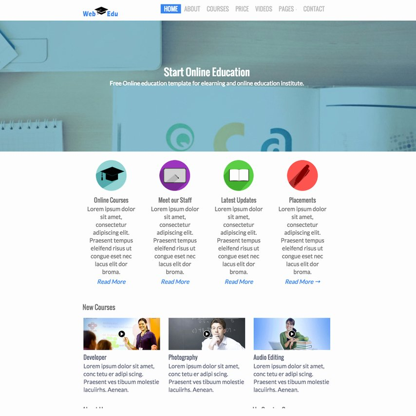 Free Education Website Template Lovely Free Educational Responsive Web Template