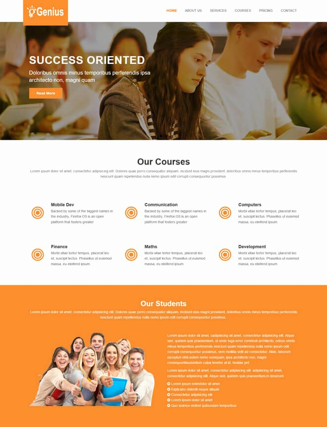 Free Education Website Template Luxury 30 School College University Academic Free Line