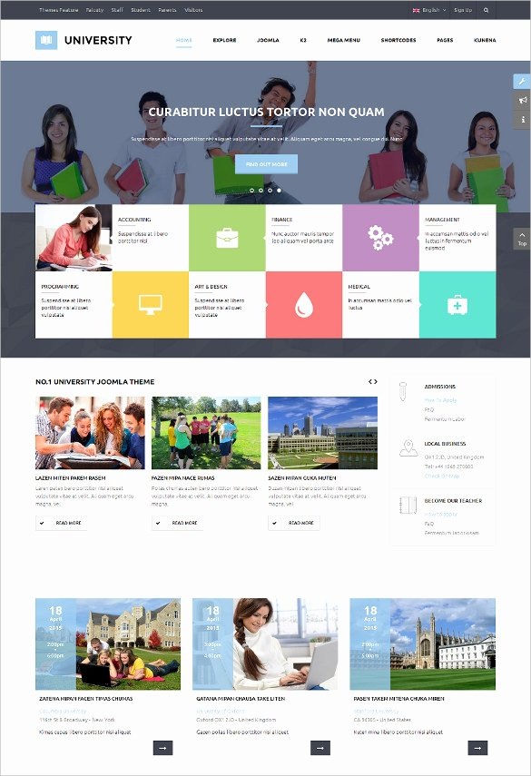 Free Education Website Template Luxury 41 College Website themes & Templates