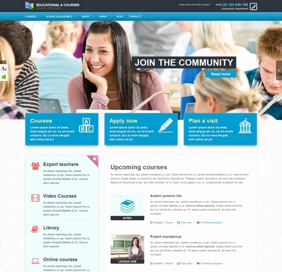 Free Education Website Template Luxury 70 Best Education Website Templates Free & Premium