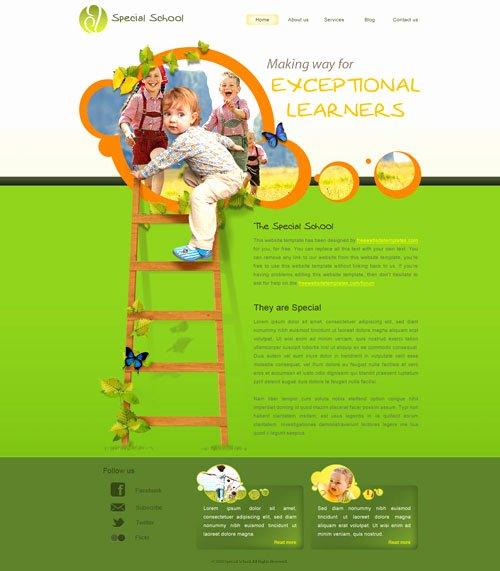 Free Education Website Template Luxury Special School Web Template