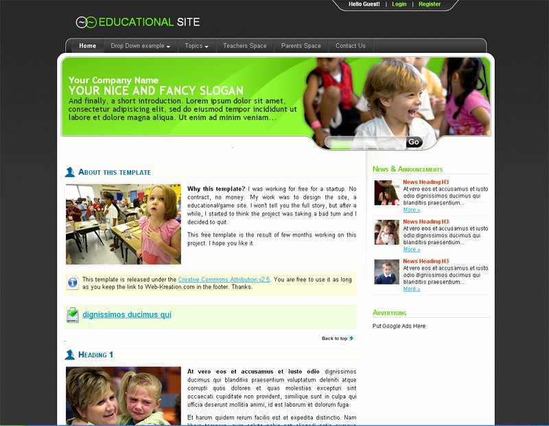Free Education Website Template Luxury top 10 Useful Web Design Tricks and Free Templates for