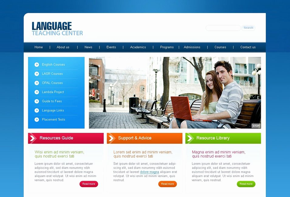 Free Education Website Template New Education Website Templates Free 25