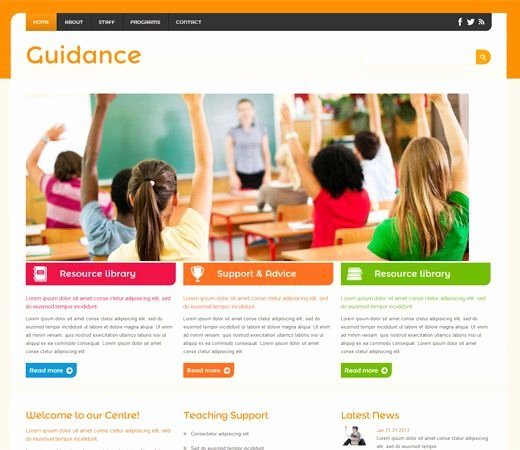 Free Education Website Template New Guidance A Education Mobile Website Template