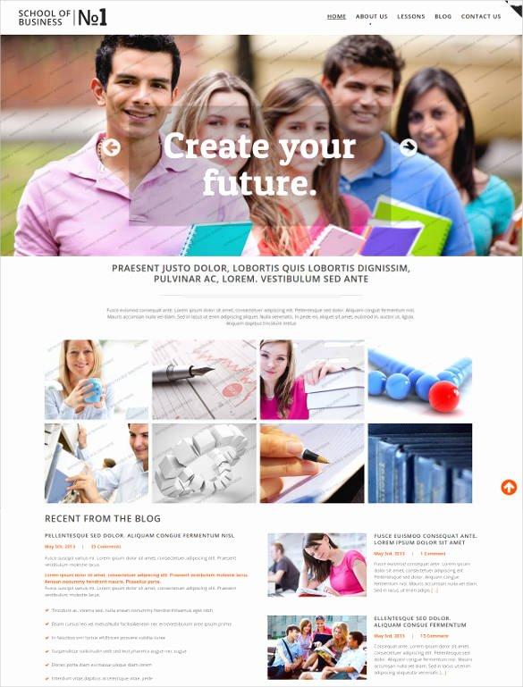 Free Education Website Template Unique 25 Education HTML5 themes & Templates