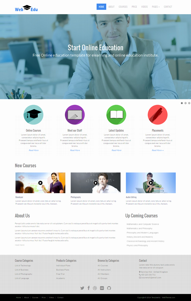 Free Educational Web Template Awesome 10 Best Free Website HTML5 Templates – October 2014