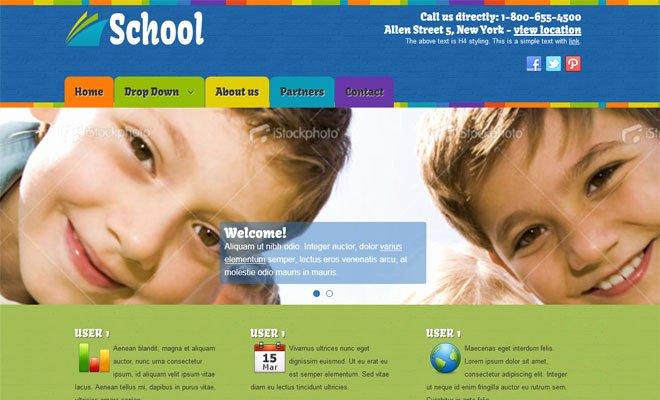 Free Educational Web Template Beautiful Education School Joomla Template Free