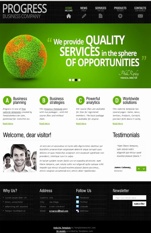 Free Educational Web Template Best Of Free Website Template with Slider and Expressive