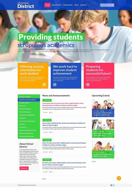 Free Educational Web Template Elegant University Responsive Website Template