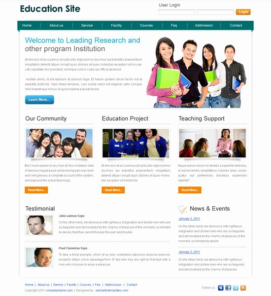 Free Educational Web Template Fresh Best Website Template Psd for Sale On Affordable Price