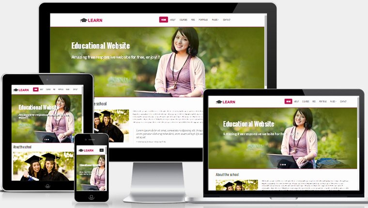 Free Educational Web Template Fresh Learn Educational Free Responsive Web Template Webthemez