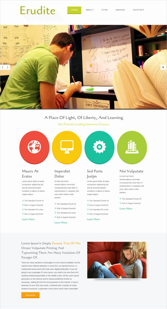 Free Educational Web Template Inspirational 41 College Website themes & Templates