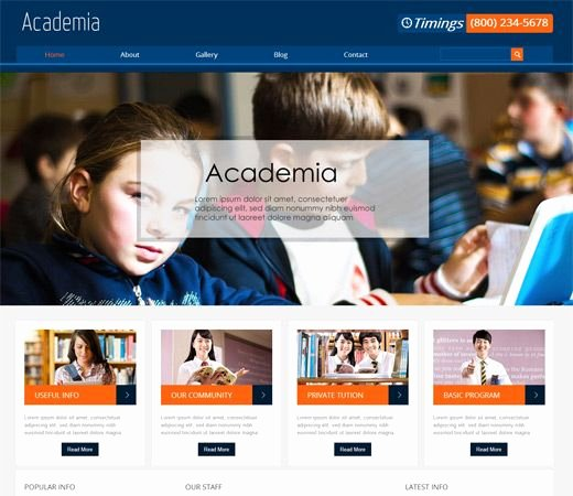 Free Educational Web Template Inspirational Education Website Sample Example Template College