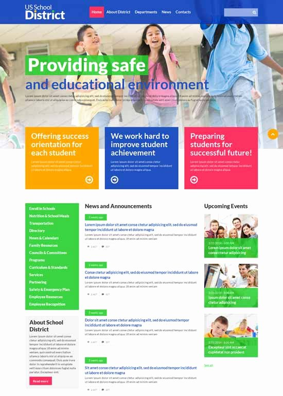 Free Educational Web Template Lovely 90 Best Education Website Templates Free & Premium