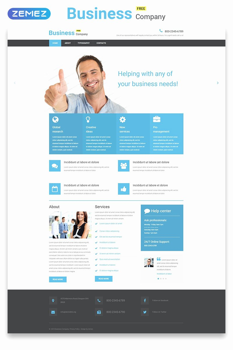 Free Educational Web Template Lovely Free Business Responsive Website Template