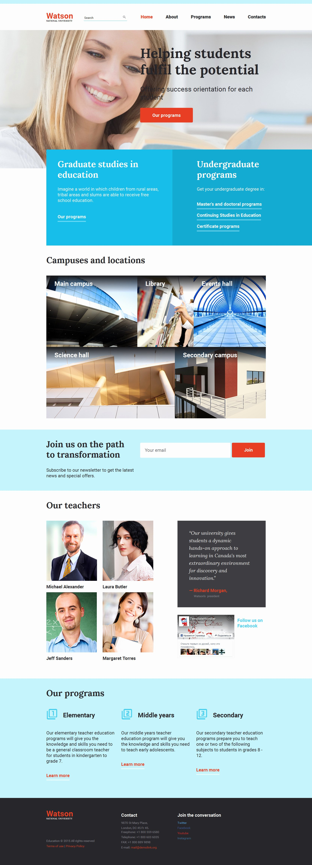 Free Educational Web Template Luxury Line Higher Education Website Template