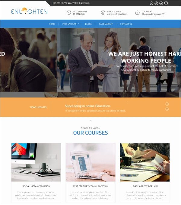Free Educational Web Template New 27 Free Education Website themes & Templates