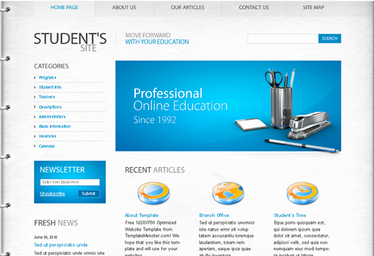 Free Educational Web Template New Well Designed Psd Website Templates for Free Download