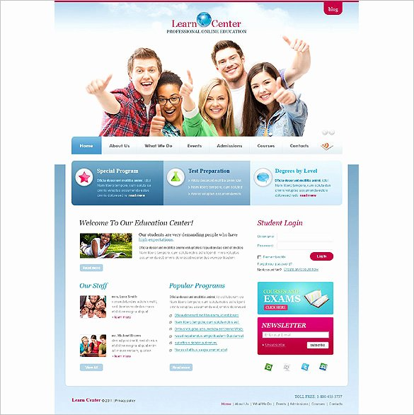 Free Educational Web Template Unique 21 Education HTML5 themes & Templates