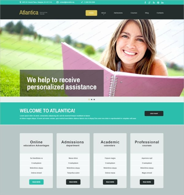 Free Educational Web Template Unique 27 Free Education Website themes & Templates