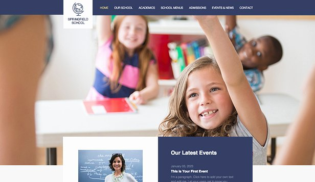Free Educational Web Template Unique Education Website Templates Munity & Education