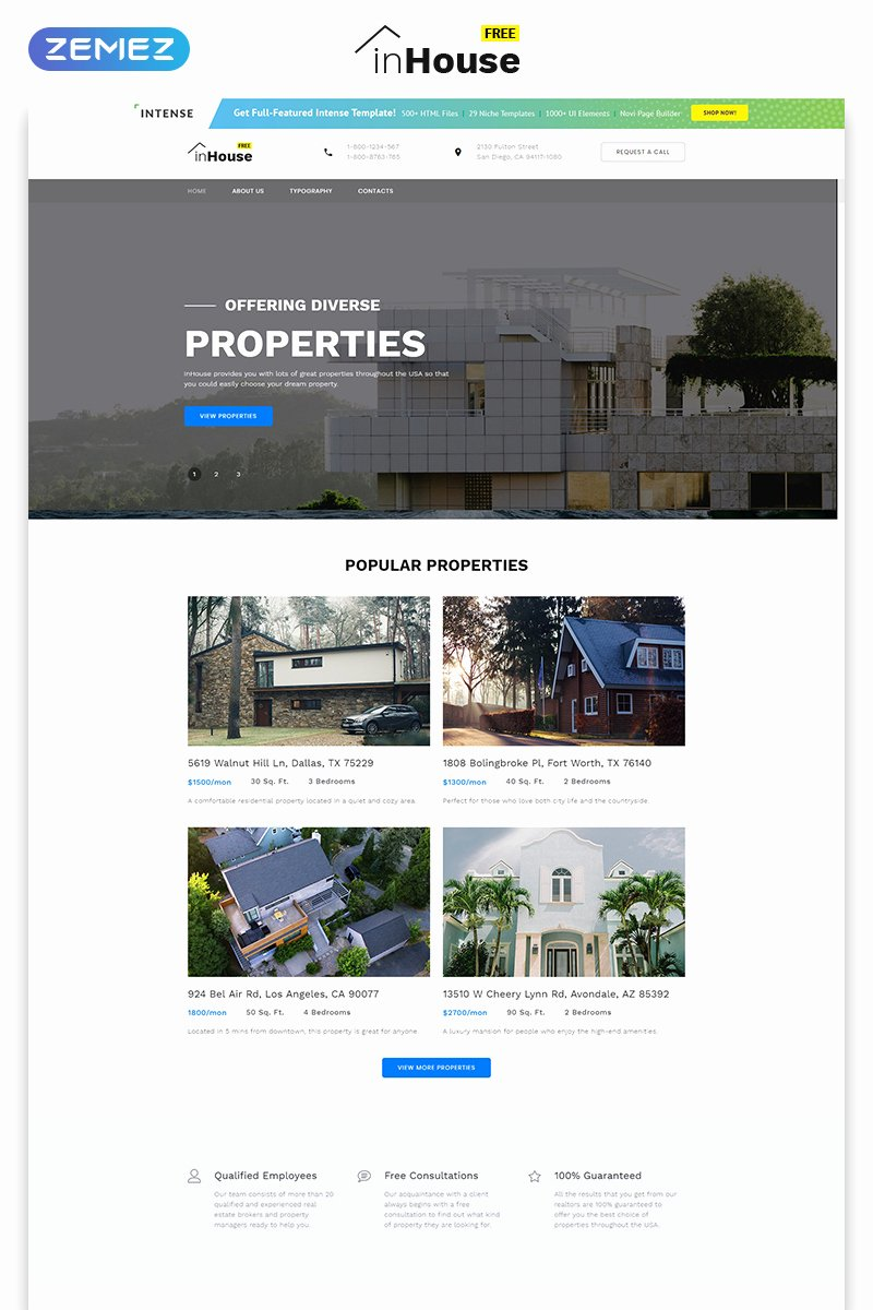 Free Educational Web Template Unique Free Website Template Real Estate