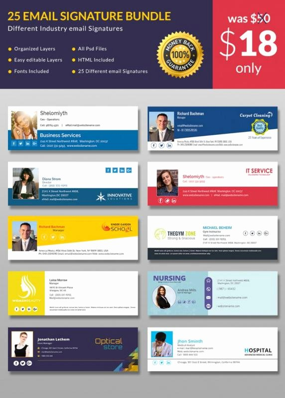 Free Email Template for Outlook Best Of Free Email Signature Templates for Outlook