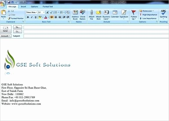 Free Email Template for Outlook Best Of Outlook Signature Template Outlook Signature Template