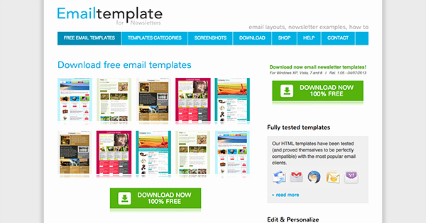 Free Email Template for Outlook Best Of the Best Places to Find Free Newsletter Templates and How