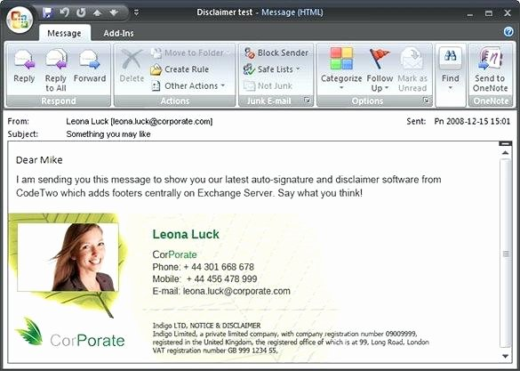 Free Email Template for Outlook New Outlook Signature Template Outlook Signature Templates