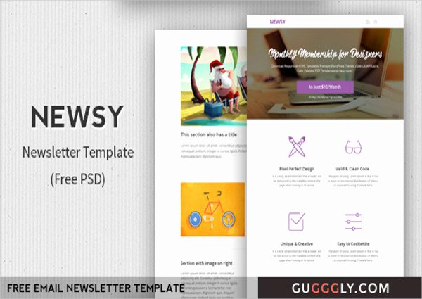 Free Email Template Psd Beautiful 33 Free Newsletter Templates Free Psd Ai Vector Eps