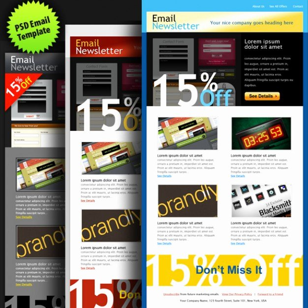 Free Email Template Psd Best Of Psd Email Template In Colors Psd File