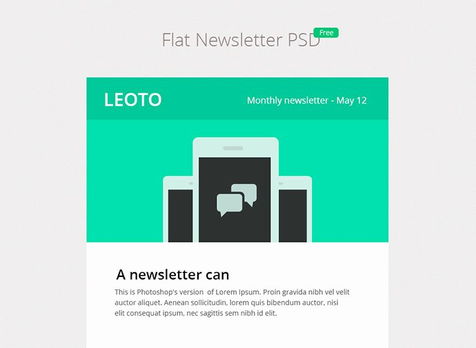 Free Email Template Psd Elegant 6 Free Email Newsletter Psd Templates