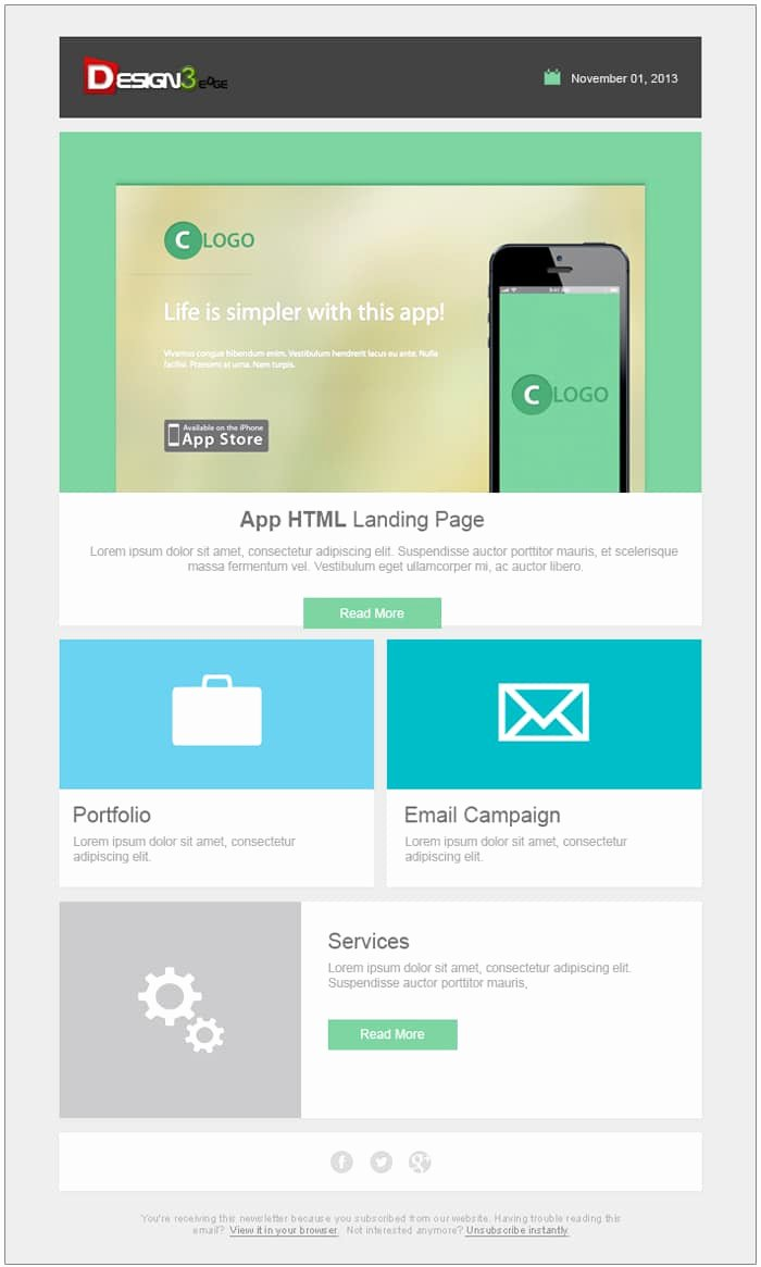 Free Email Template Psd Elegant Free Email Newsletter Templates Psd Css Author