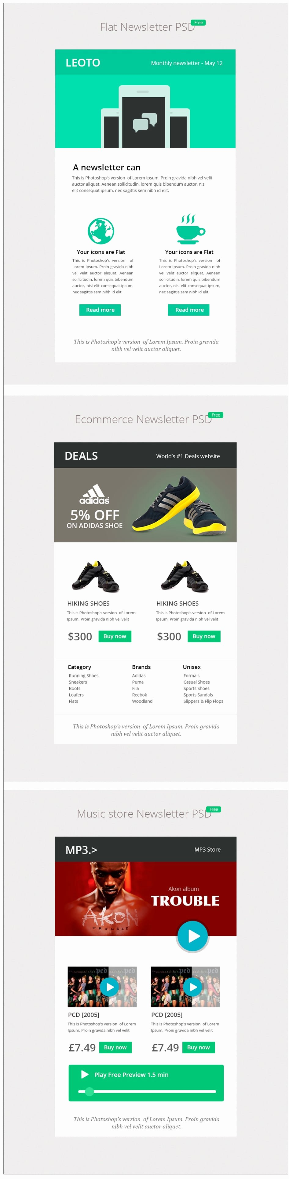 Free Email Template Psd Fresh Free Email Newsletter Templates Psd Css Author