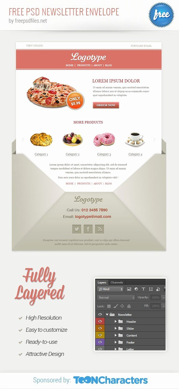 Free Email Template Psd Fresh Free Psd Newsletter Envelope Free Psd Files