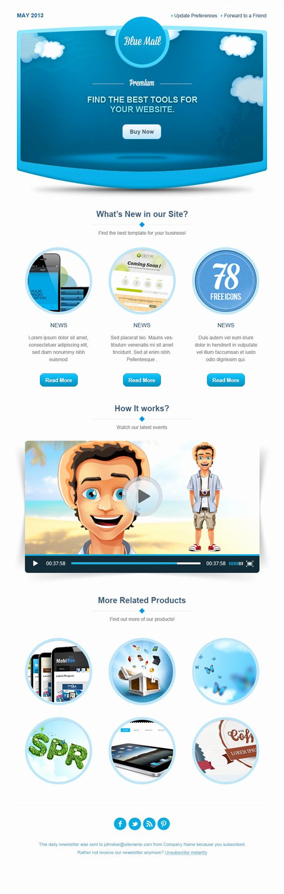 Free Email Template Psd Inspirational 25 HTML and Psd Email Newsletters Psd Vector Eps Jpg