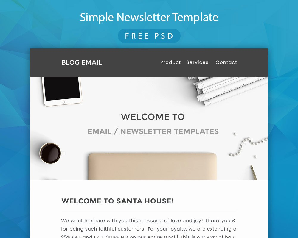 Free Email Template Psd Inspirational Simple Newsletter Template Free Psd Download Download Psd
