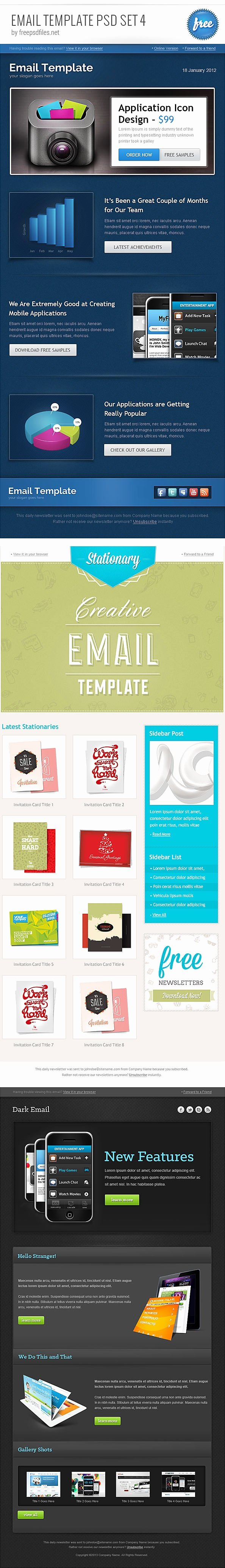 Free Email Template Psd Lovely 25 HTML and Psd Email Newsletters Psd Vector Eps Jpg