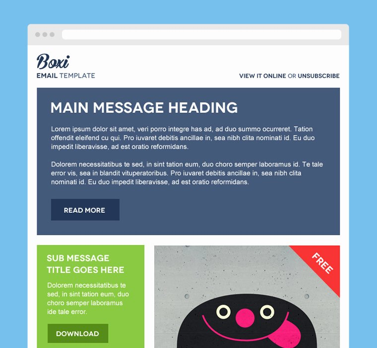 Free Email Template Psd Lovely 30 Free Psd Email Templates and Newsletter Designs